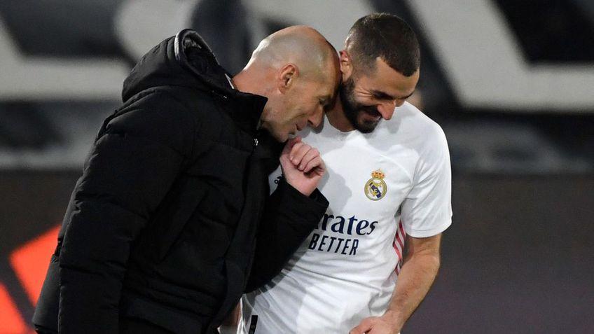 Zinedine Zidane și Karim Benzema