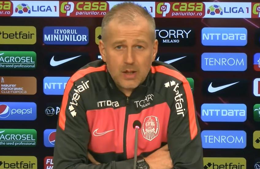 Edi Iordănescu, 42 de ani, antrenorul lui CFR Cluj, a fost nemulțumit de discuțiile despre arbitraj iscate după victoria campioanei României cu FCSB (2-0).