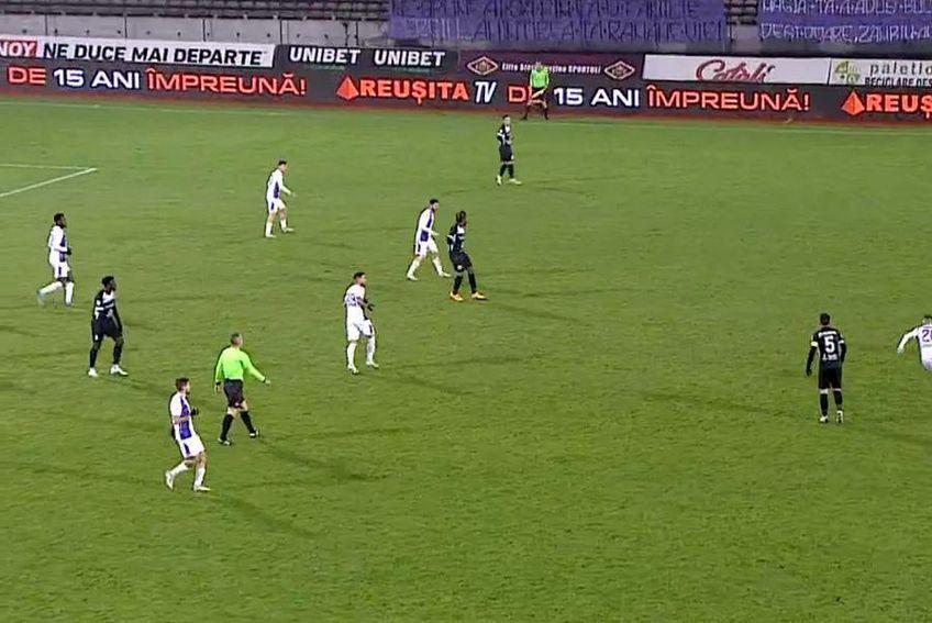 FC Argeș - Hermannstadt. Captură TV Telekom Sport