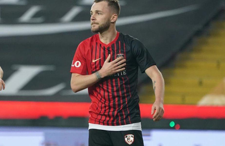 Alex Maxim, 30 de ani, a ajuns la 10 goluri pentru Gaziantep în acest sezon de Süper Lig, 11 în toate competițiile, marcând de fiecare dată în ultimele 7 meciuri, cea mai prolifică serie a carierei. Foto: Imago