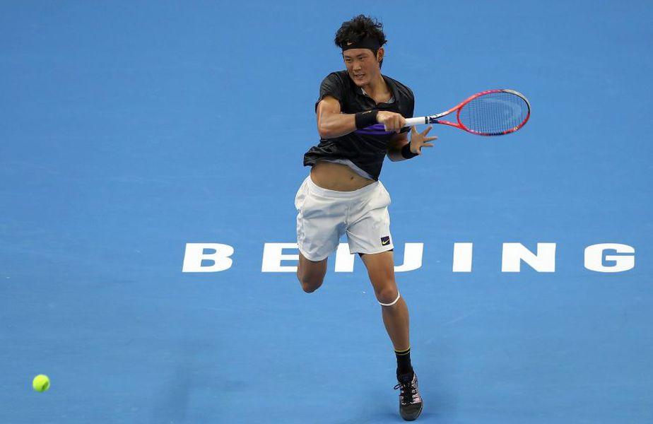 Zhizhen Zheng este cel mai bine clasat jucător chinez în ierarhia mondială, el ocupând locul 136 ATP FOTO Guliver/GettyImages