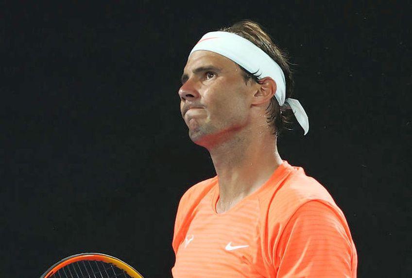 Rafael Nadal (34 de ani, 2 ATP) a fost eliminat în sferturile de la Australian Open de Stefanos Tsitsipas (22 de ani, 6 ATP), scor 6-3, 6-2, 6(4)-7, 4-6, 5-7.