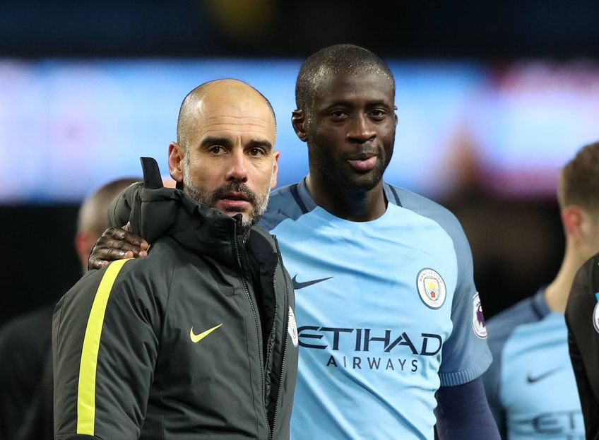 Pep Guardiola și Yaya Toure, foto: Guliver/gettyimages