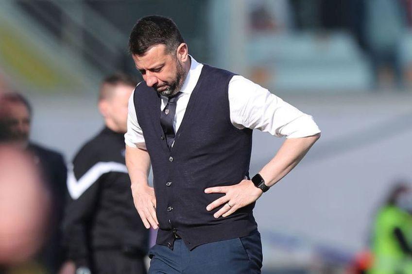 """Roberto D'Aversa, 45 de ani, antrenorul lui Parma, nu găsește o explicație pentru finalul partidei cu Cagliari, 3-4, pierdută în prelungiri de """"cruciați""""."""