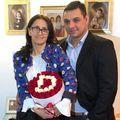 Ionel Ganea alături de Dana, fosta soție // foto: Facebook @ Georghe Ganea