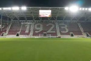 Imagini spectaculoase din Giulești » Primele probe ale nocturnei pe stadionul Rapid