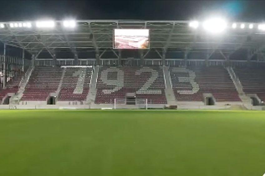 Primele probe de nocturnă la stadionul Giulești // foto: captură Facebook
