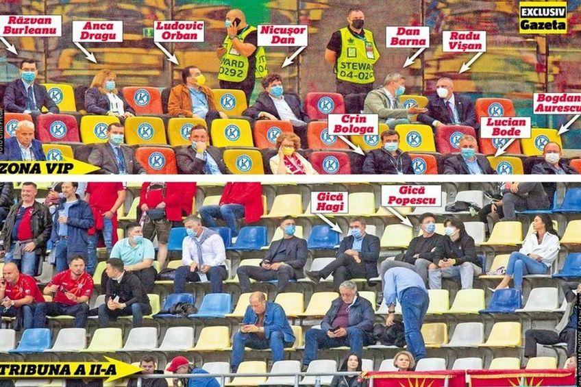 Politicienii la VIP, legendele fotbalului românesc la tribuna a II-a