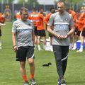 Dinu Todoran și Thomas Neubert coordonează antrenamentele FCSB // foto: Facebook