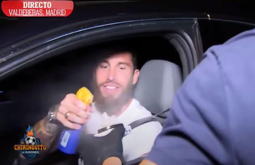 Sergio Ramos a dezinfectat cadoul primit de la un reporter