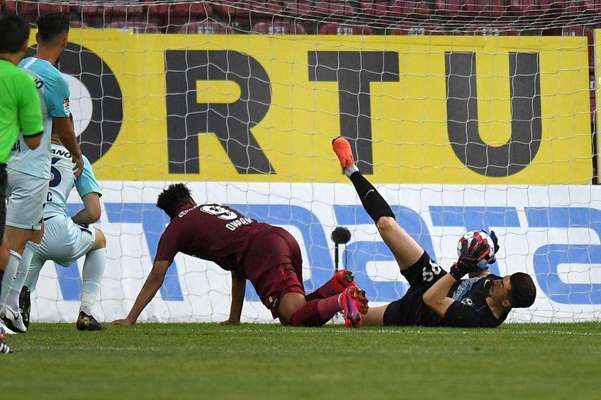 În turul din play-off, CFR a învins-o pe FCSB, scor 1-0