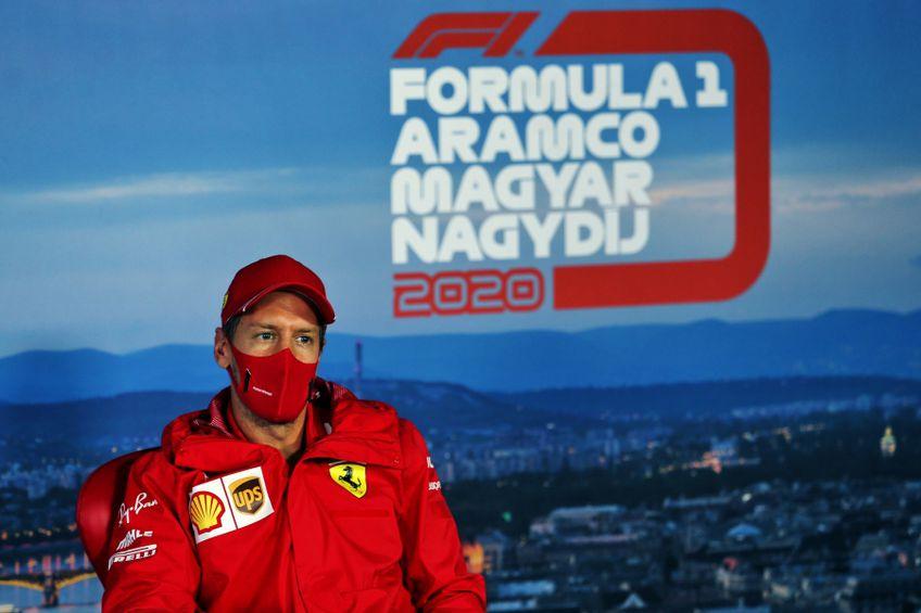 Sebastian Vettel la conferință de presă la Budapesta FOTO Guliver/GettyImages