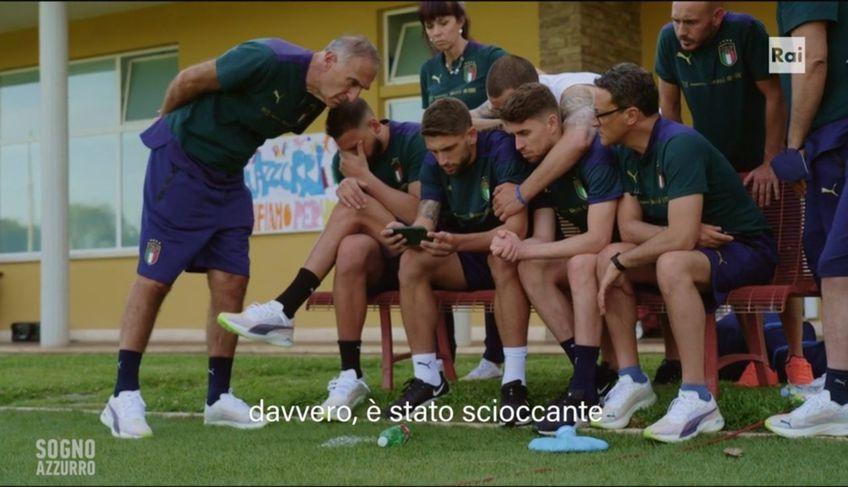 """Imagini în premieră din cantonamentul Italiei la EURO » Au fost șocați de prăbușirea lui Eriksen: """"Nici n-am putut să mă uit"""""""