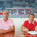 Gigi Mulțescu (dreapta) alături de directorul sportiv Rufo Coollado // foto: Facebook @ FC Dinamo București