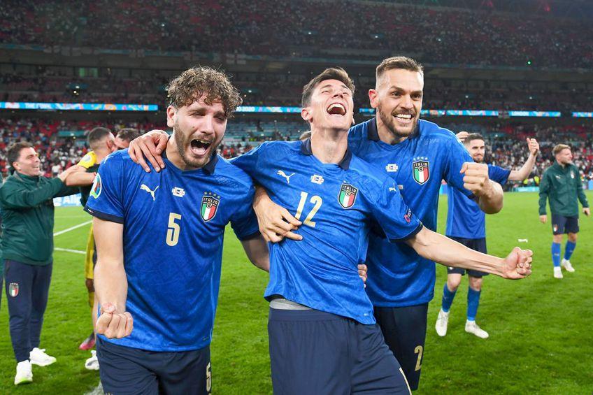 Manuel Locatelli (#5) a câștigat EURO 2020 alături de Italia // foto: Guliver/gettyimages