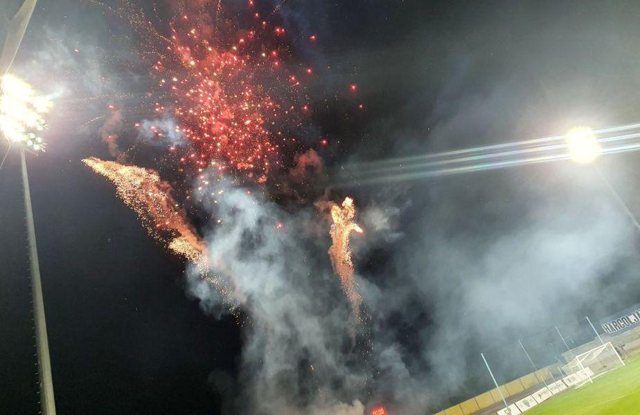 Backa  Topola - FCSB a fost precedat de un foc de artificii