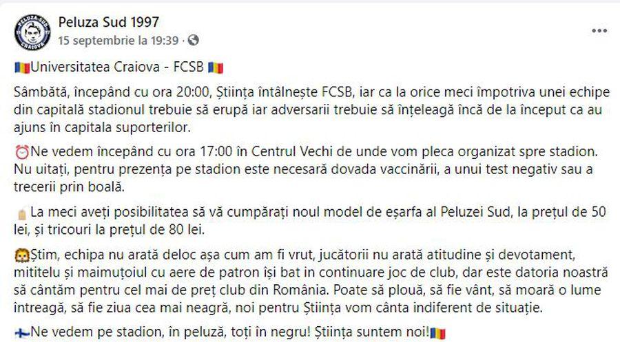 """Scandalul ia amploare! Ultrașii Craiovei, mesaj dur pentru Adrian Mititelu jr.: """"Maimuțoi cu aere de patron"""""""