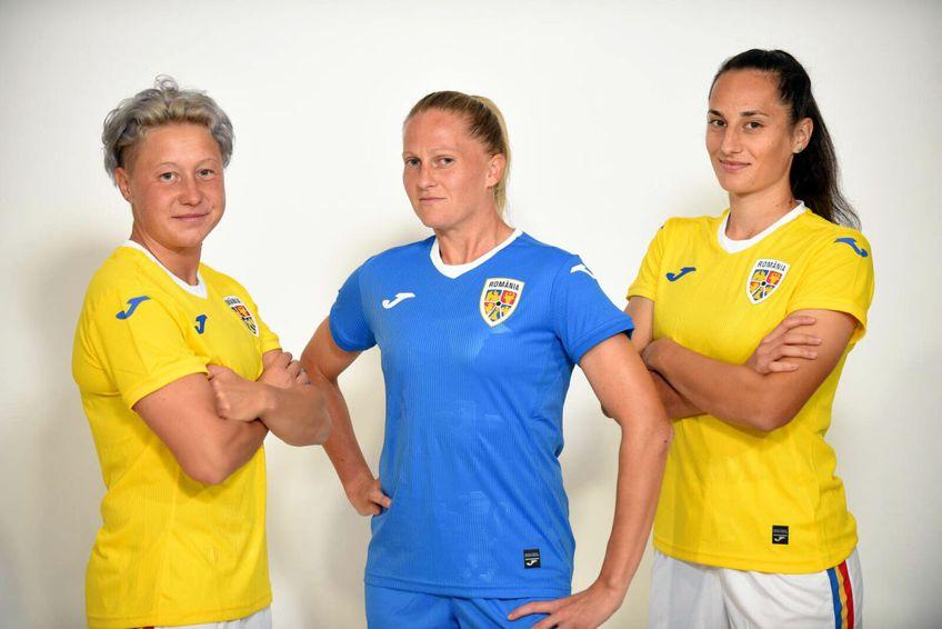 Naționala feminină de fotbal a României își va inaugura astăzi, în meciul contra Croației, noul echipament de joc / Sursă foto: frf.ro