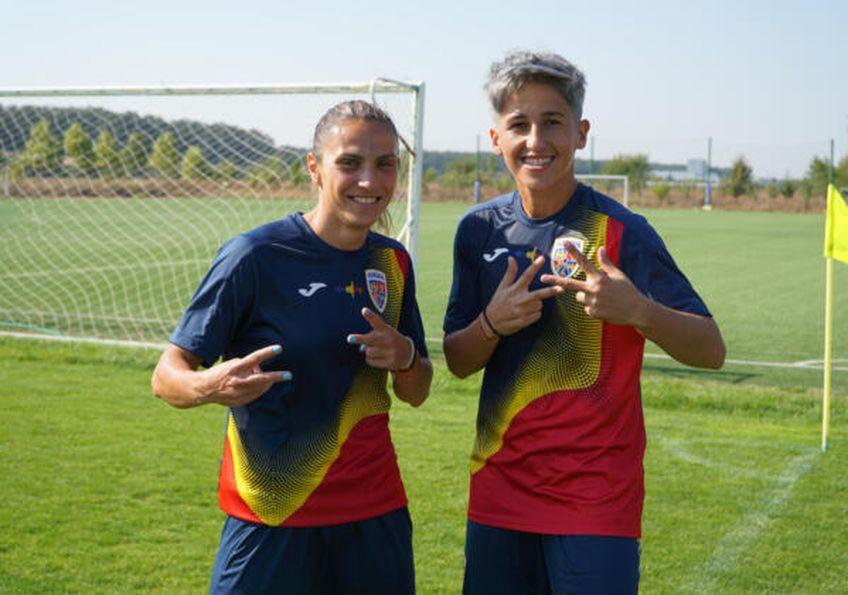 Florentina Olar (jucătoarea din stânga) / Sursă foto: frf.ro