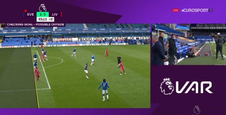 Golul anulat în minutul 90+4 pe motiv de offside