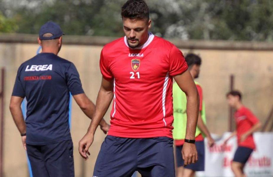 Adrian Petre a debutat la Cosenza // foto: Instagram @adrianpetre9