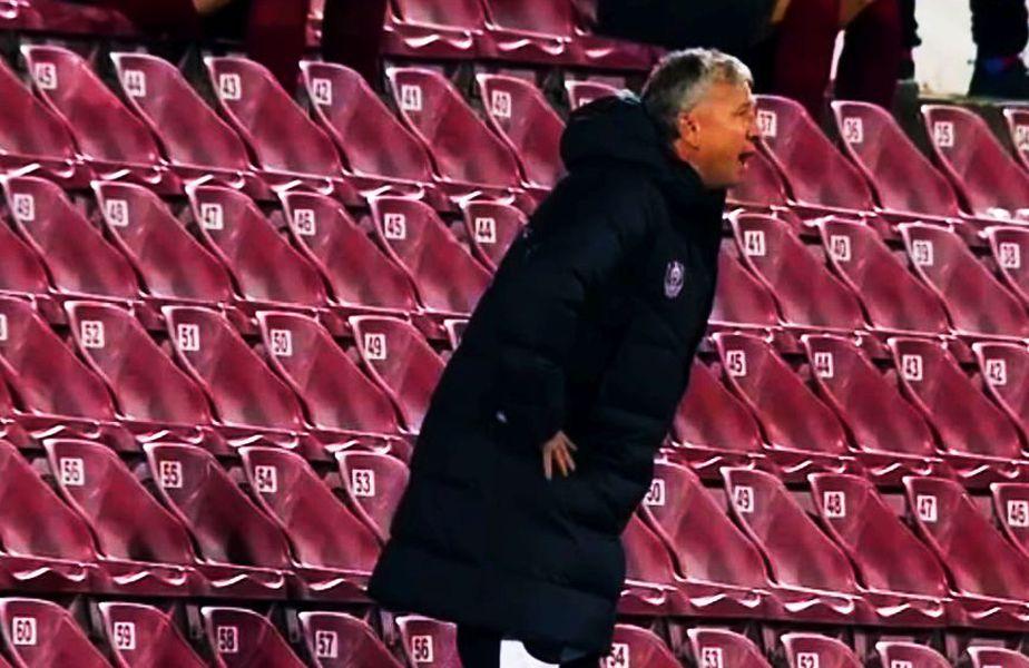 Dan Petrescu (52 de ani) a fost trimis în tribune în minutul 67 al partidei dintre CFR Cluj și FC Botoșani, la scorul de 1-1.