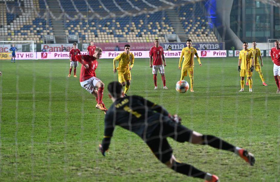 Alexandru Pașcanu a comis faultul care a dus la penalty-ul danezilor