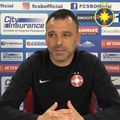 Toni Petrea (45 de ani) a vorbit despre problemele de efectiv pe care FCSB le are înaintea disputei cu CS Universitatea Craiova, de vineri.