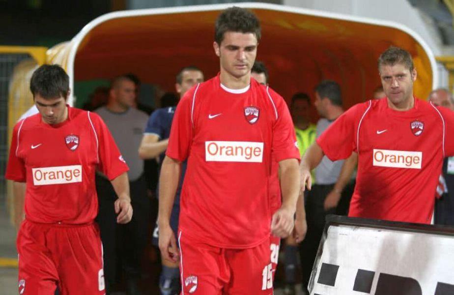 Andrei Mărgăritescu (stânga) și Florin Bratu (centru), la Dinamo