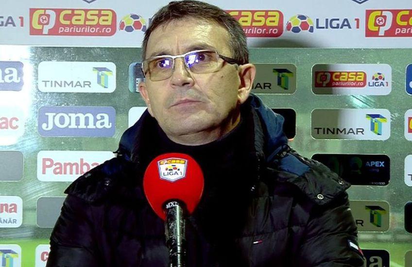 Eugen Neagoe, antrenorul Astrei, a oferit declarații la finalul remizei cu Craiova (1-1).