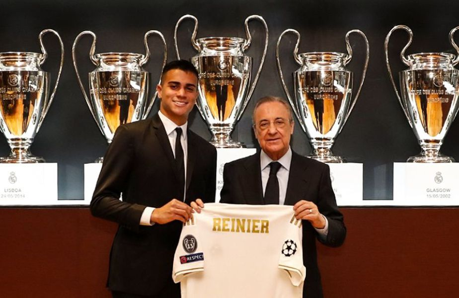La prezentare, au asistat și Raúl (antrenorul lui Real Castilla, unde va începe Reinier), Butragueño, Solari și Arbeloa.