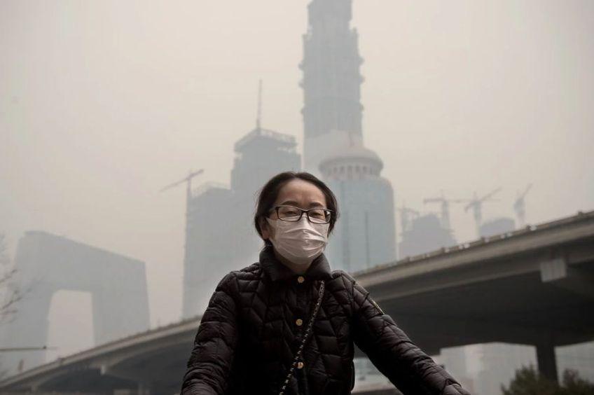 În China smogul și poluarea aerului era un lucru obișnuit în marile orașe