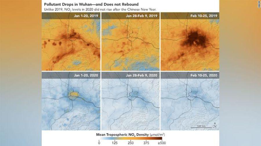 O hartă senzațională: cum arată nivelurile de poluare acum în China, față de perioada fără coronavirus + câte vieți ar fi fost salvate