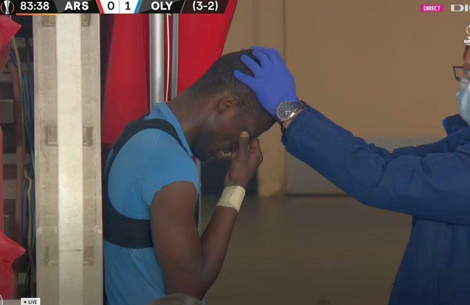 Ousseynou Ba a izbucnit în plâns // foto: captură @ Digisport 1