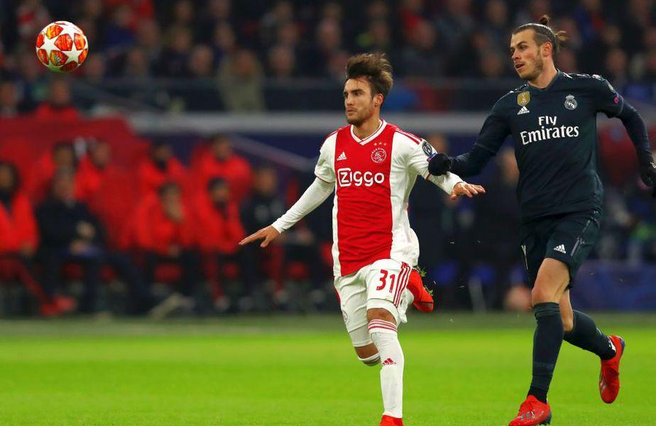 Nicolas Tagliafico, într-un meci Ajax - Real Madrid. foto: Guliver/Getty Images