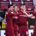 CFR Cluj a învins-o fără emoții pe Academica Clinceni, 3-0, în prima rundă din play-off.