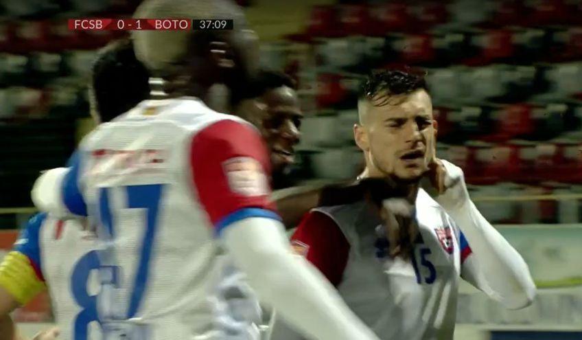 Stefan Ashkovski a deschis scorul pentru FC Botoșani în partida cu FCSB ('38), prima din play-off, după o cursă fantastică!