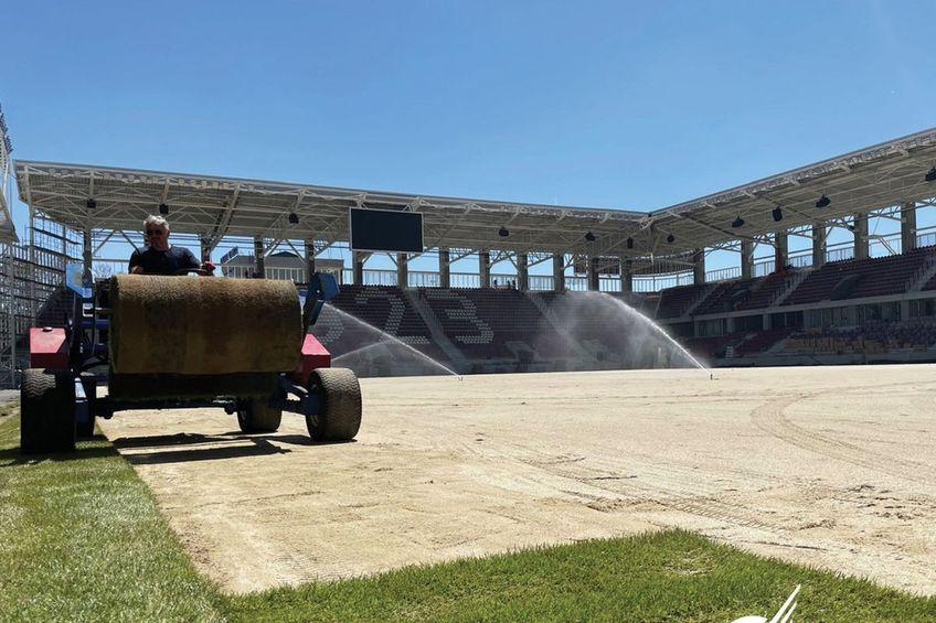 Se lucrează intens la stadionul din Giulești