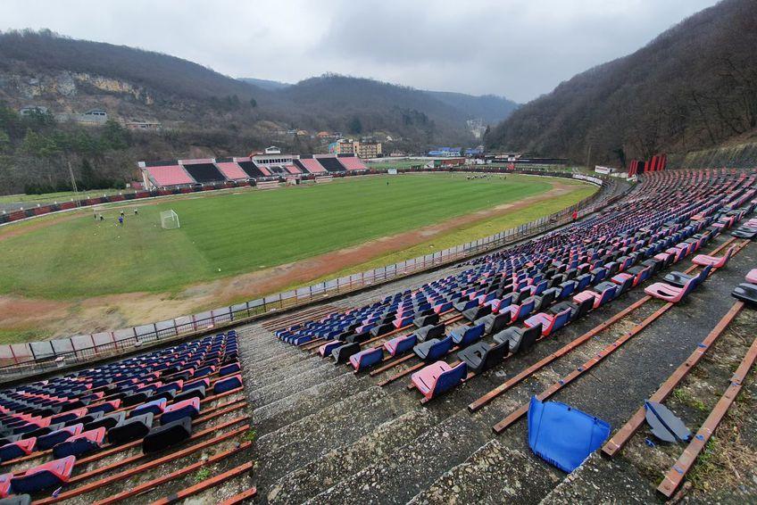 """Stadionul """"Mircea Chivu"""", din Reșița (foto: Vlad Nedelea/GSP)"""