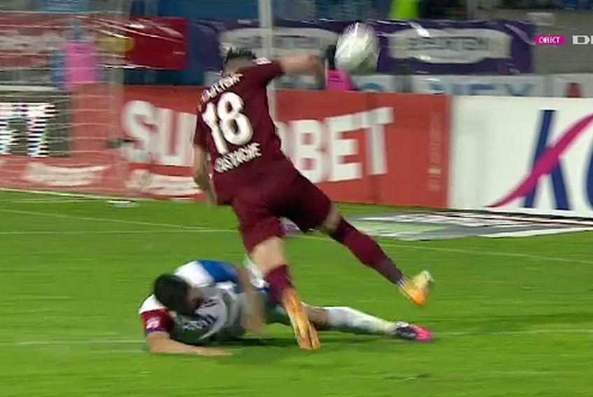 Faza la care CFR a cerut penalty / Captură Digi Sport