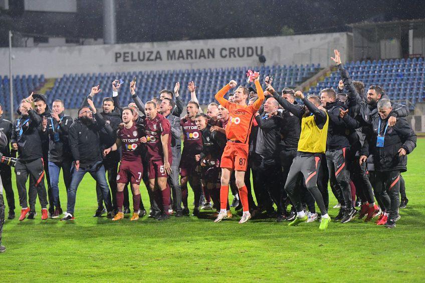 CFR Cluj a declanșat fiesta pe gazonul din Botoșani, după al 7-lea titlul din istorie