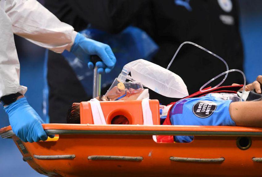 Eric Garcia a suferit o accidentare teribilă în meciul Manchester City - Arsenal 3-0 // Sursă foto: Getty