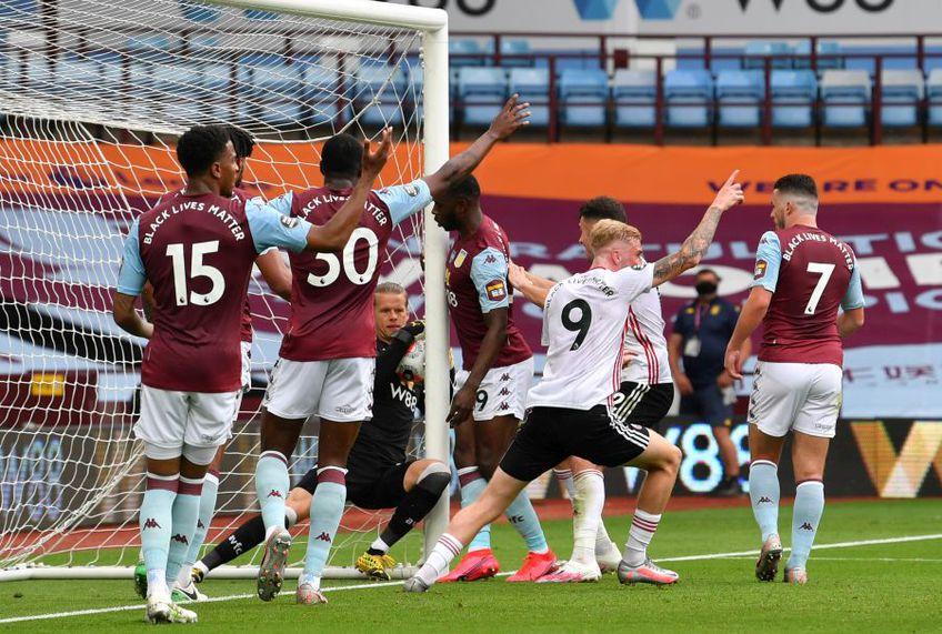 Golul refuzat lui Sheffield în remiza cu Aston Villa, 0-0 // foto: Guliver/gettyimages