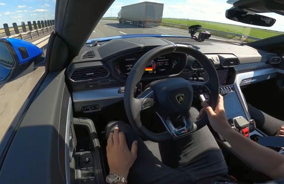 Lamborghici Urus, mașina gonită de clujean pe drumurile din România cu până la 300 km/h // foto: captură Youtube