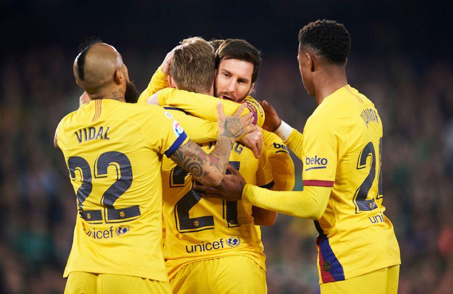Sevilla și Barcelona se vor întâlni vineri, de la ora 23:00, într-un meci contând pentru etapa a 30-a din La Liga. Foto: Guliver/GettyImages