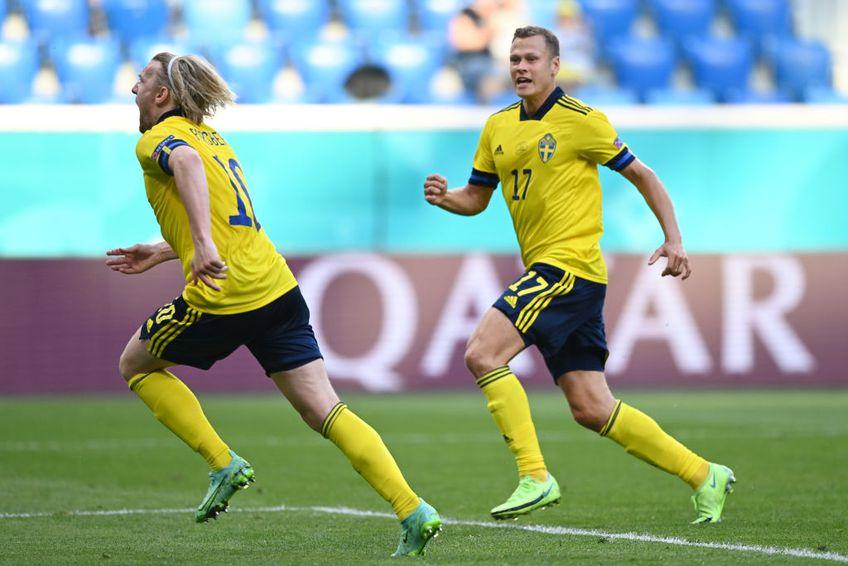 Suedia a învins Slovacia, scor 1-0, și urcă pentru moment pe primul loc în grupa E de la Euro 2020.