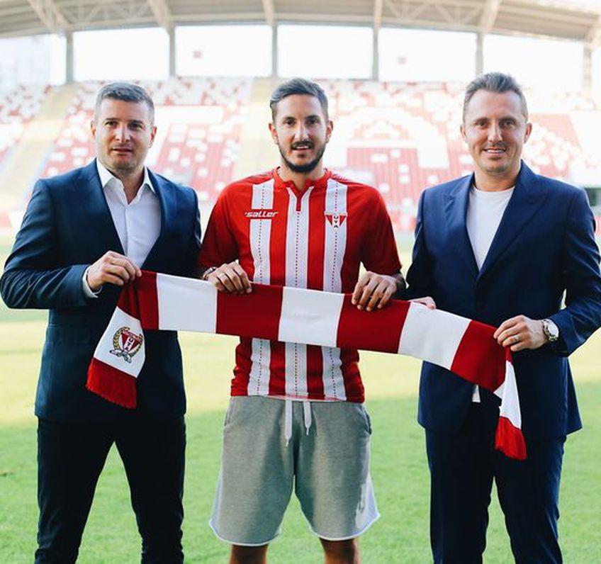 UTA continuă campania de achiziții cu Marko Vukcevic, fotbalist ce a evoluat în 6 rânduri naționala Muntenegrului / FOTO: Facebook @uta1945arad