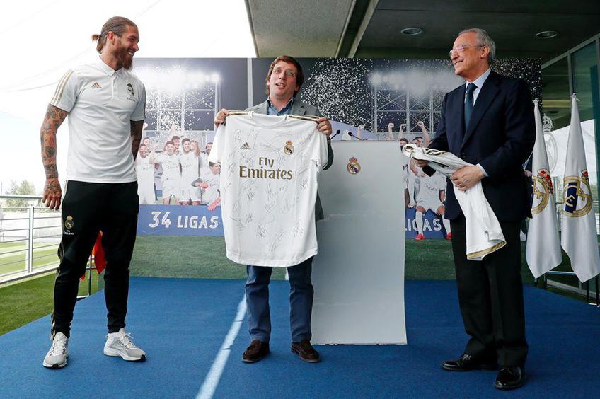Imaginea postată de primarul Madridului pe twitter
