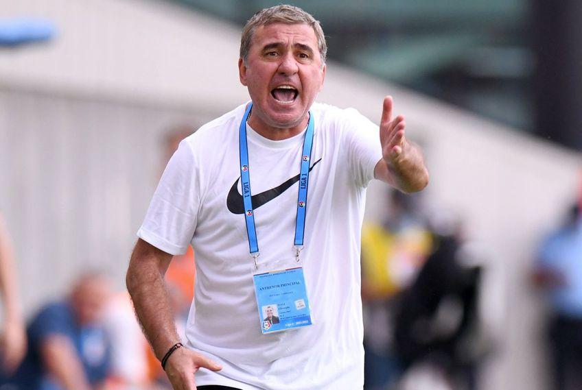 Chindia - Farul 2-0. Gică Hagi, antrenorul dobrogenilor, e dezamăgit de prestația elevilor săi, mai ales în plan ofensiv.