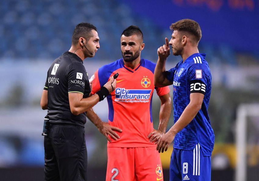 """FCSB a învins-o pe FCU Craiova, scor 1-0, chiar pe """"Ion Oblemenco"""". Valentin Crețu (32 de ani) admite că a amplificat căderea la faza penalty-ului din minutul 61."""